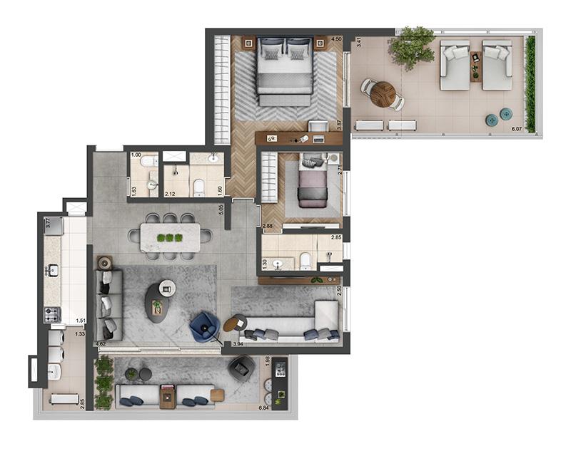 136m²-2-quartos-3-banheiros-2-vagas
