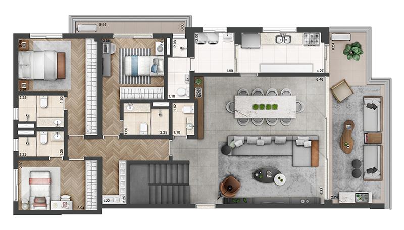 307m²-Duplex-3-quartos-4-banheiros-3-vagas-pav.-inferior-
