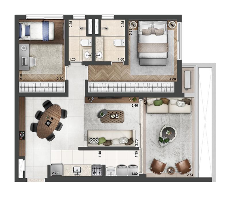 83m²-2-quartos-2-banheiros-1-vaga