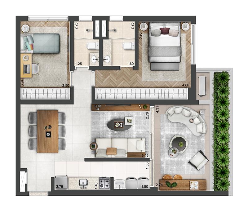 89m²-2-quartos-2-banheiros-1-vaga