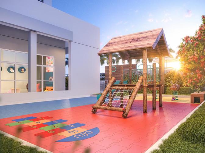 Ilustração artitstica do playground
