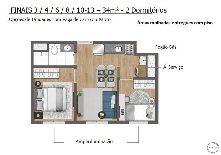 34m2 - 2 Dorms